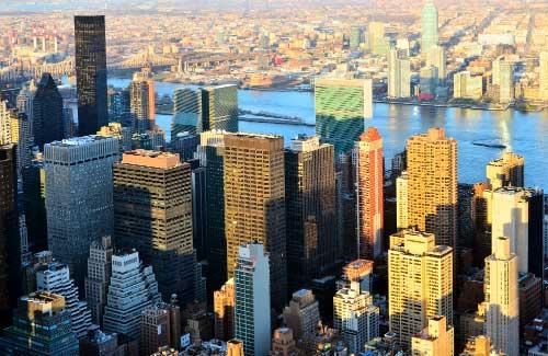 Manhattan aerial shot