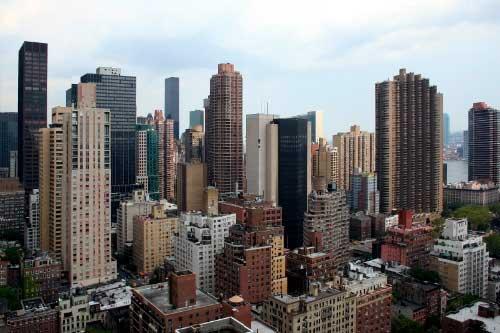 NYC birdseye shot